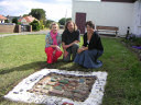 Prestonpans Primary School project with Muralist Andrew Crummy and Joanna Mawdsley, Cultrural Co-ordinatior, East Lothian