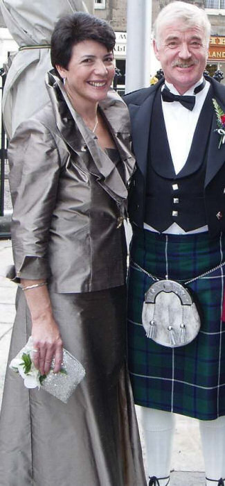 With my husband Stuart at our son's wedding