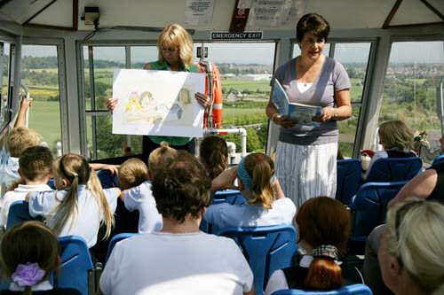 At the Falkirk Wheel; Launch of the Hamish McHaggis Falkirk Wheel book, 2005